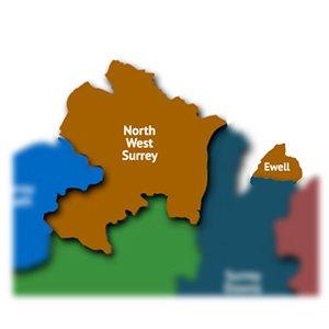 North West Surrey map