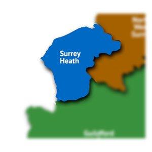 Surrey Heath map